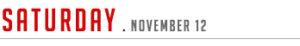 Saturday November 12